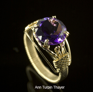 Amethyst Tiffany Ring