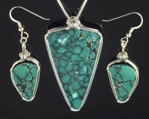 Dragon Skin Turquoise Set