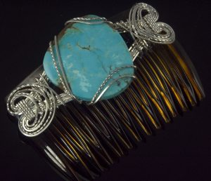 Turquoise Hair Comb