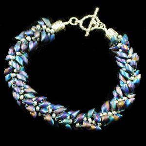 Peacock Kumihimo Bracelet