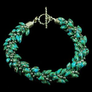 Picasso Turquoise Kumihimo Bracelet by Ann Turpin Thayer