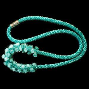Turquoise Sky Kumihimo Necklace